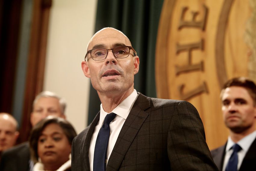 State Rep. Dennis Bonnen, R-Angleton, announces at a press conference on Nov. 12, 2018, that he has the support of 109 members of the Texas House to assume the speakership in January 2019.