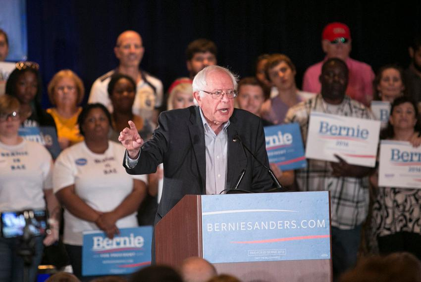Bernie Sanders, 2016 Democratic candidate for president, speaks at a rally in Dallas on July 19. Democratic rival Hillary Cl…