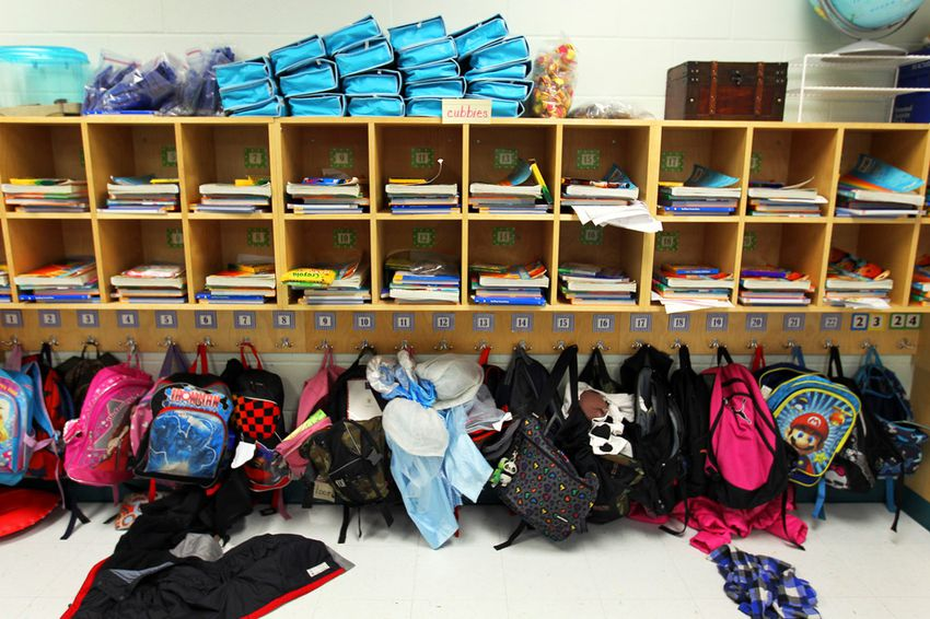 Alex Train's first grade classroom only had 22 students at the beginning of the year, but has added two more since at Wanke Elementary School in north San Antonio, Friday, March 9, 2012.