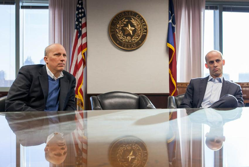 Texas First Assistant Attorney General Chip Roy and Solicitor General Scott Keller sat down with Tribune reporter Julián Agu…
