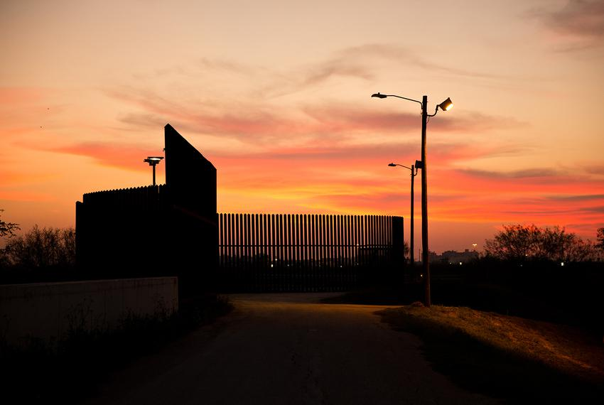 The existing border fence divides the Lower Rio Grande Valley National Wildlife Refuge in Hidalgo, TX on Feb. 7, 2017.
