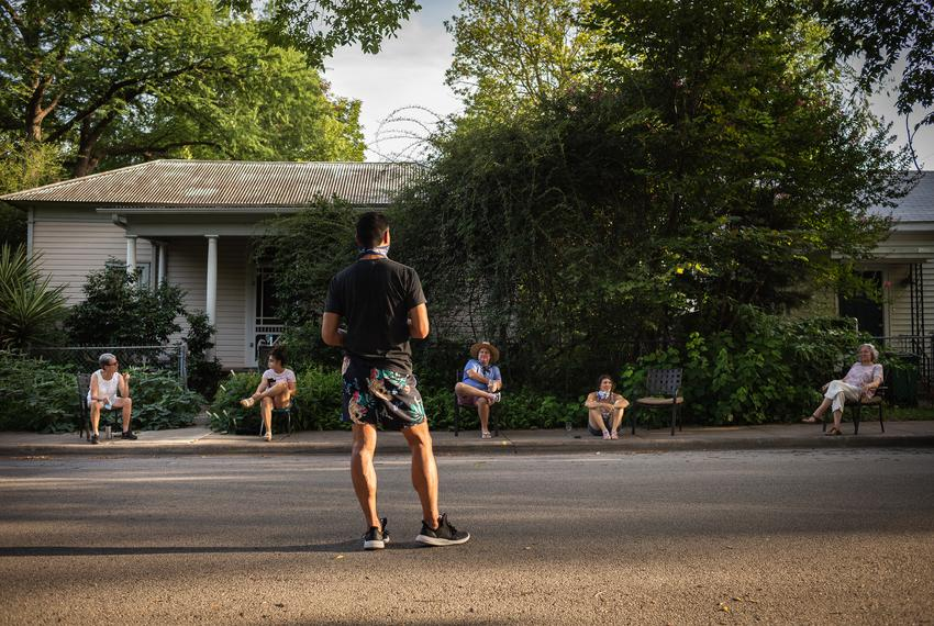 Neighbors in East Austin have gotten together for over 100 days to chat, sing and dance.