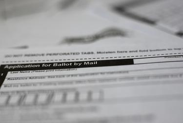 Mail-in ballot application.