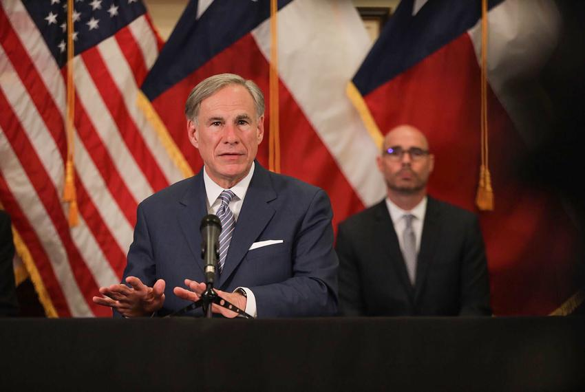 Gov. Greg Abbott announced a strike force in charge of laying steps to re-open the Texas economy at a press conference in th…