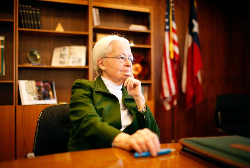 UTEP President Dr. Diana Natalicio on Jan. 30, 2012, in El Paso, Texas. Dr. Natalicio was named president of UTEP in 1988.