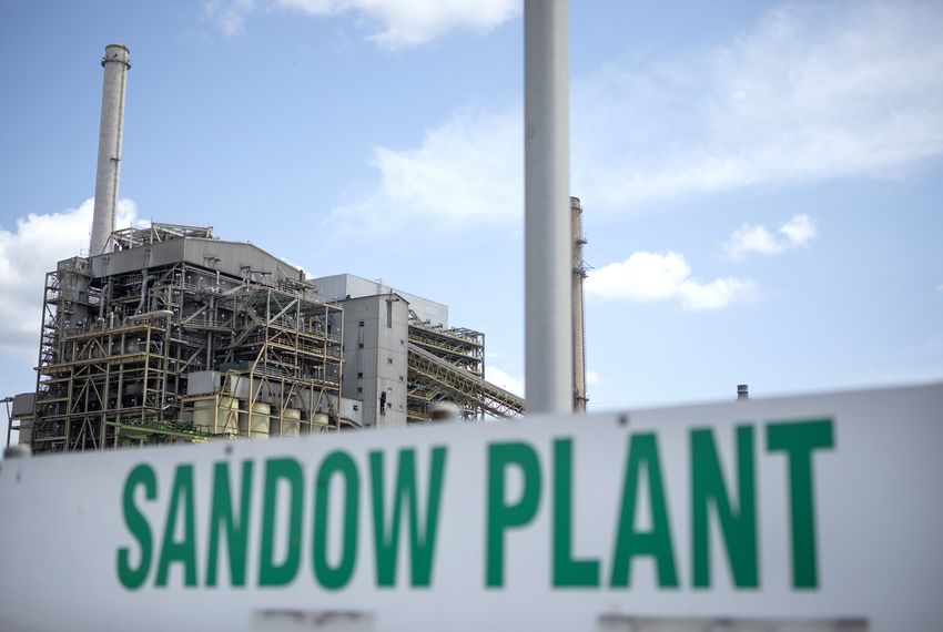 Luminant's coal-fired Sandow Power Plant near Rockdale has been closed since 2018.