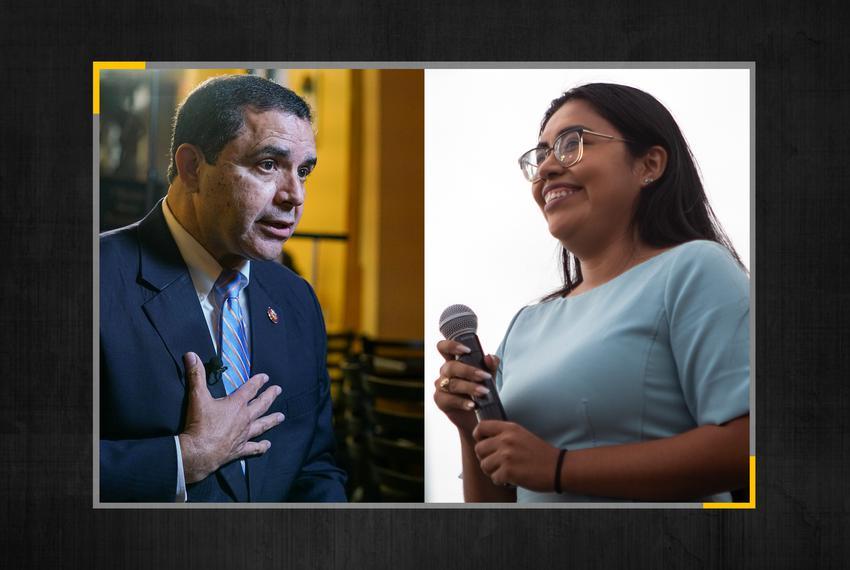 U.S. Rep. Henry Cuellar, D-Laredo, and Jessica Cisneros, his Democratic challenger.