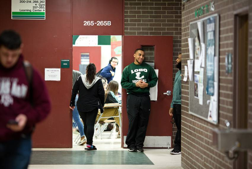 Students at Longview High School on Jan. 26, 2018.