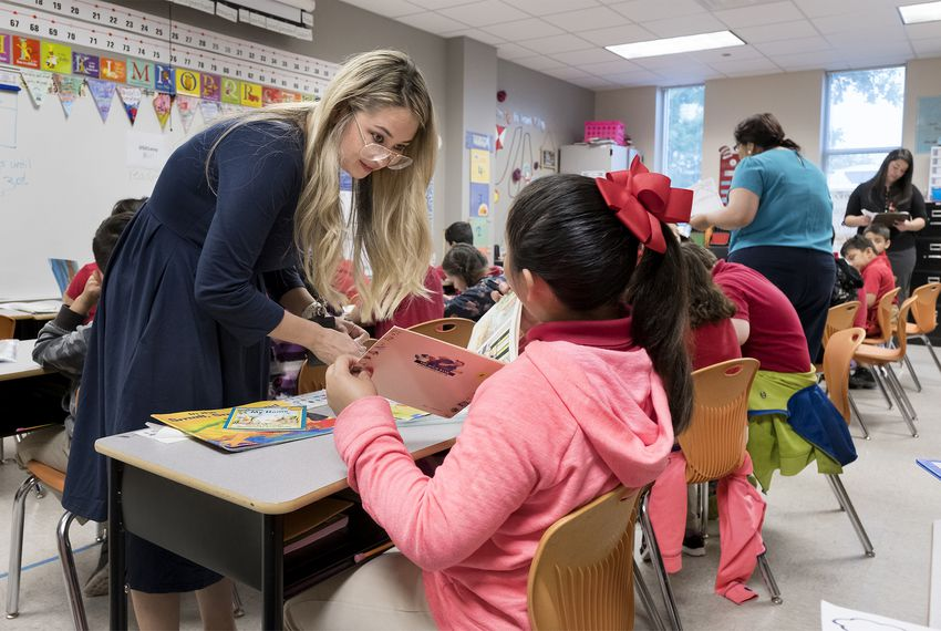 Corina Pannabecker teaches first grade at Ogden Elementary in San Antonio ISD, which is part of the System of Great Schools.