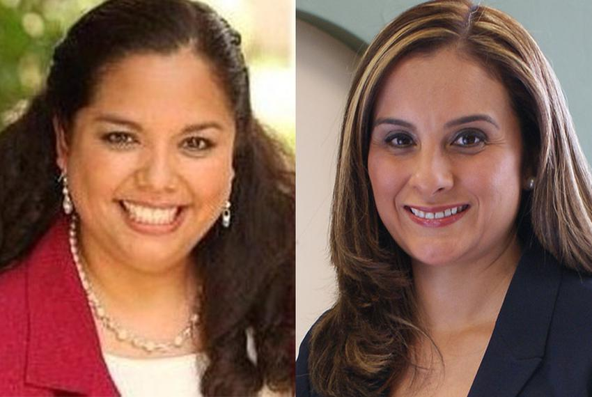 Delicia Herrera (left), a former member of the San Antonio City Council, and former Bexar County prosecutor Ina Minjarez (ri…