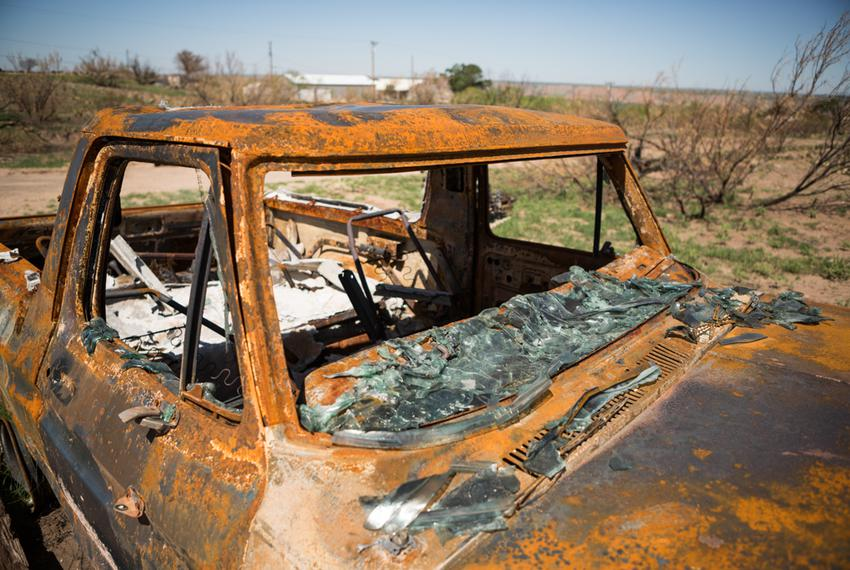 The fire destroyed more than 100 automobiles. The Texas Department of Transportation awarded $15,000 to Panhandle Communit...