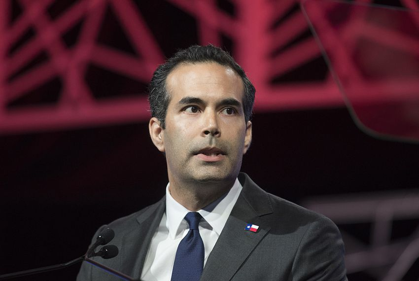 Texas Land Commissioner George P. Bush at the GOP state convention in Dallas, Texas, on May 12, 2016.