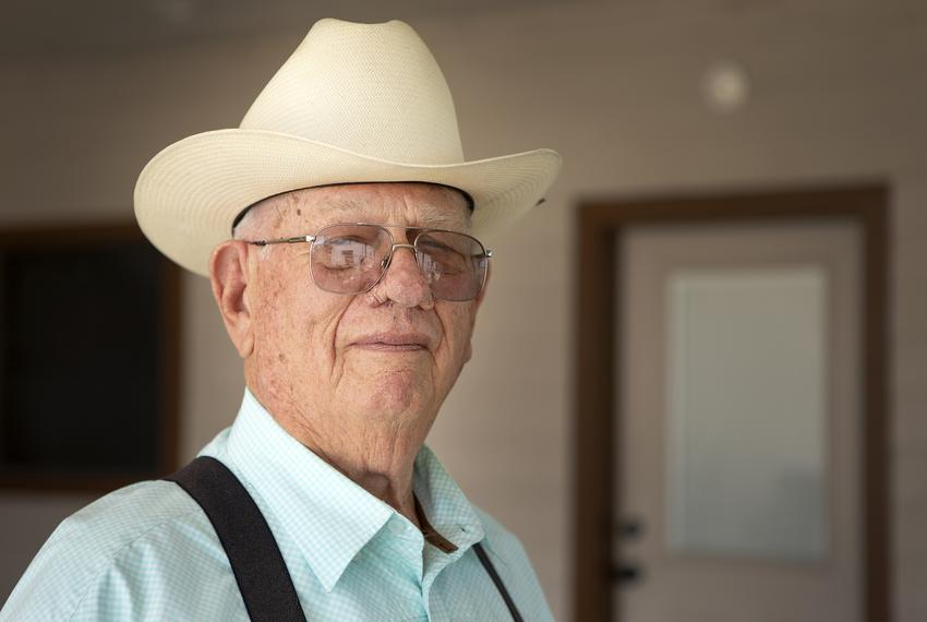 Alonzo Peeler Jr. on his family ranch in Christine, Texas on April 26, 2019.