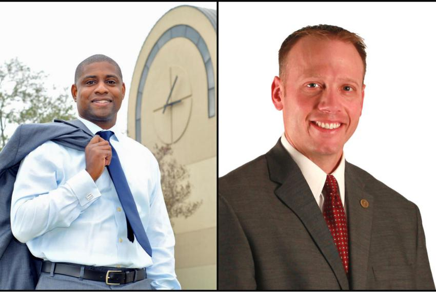 Steve Brown (l.) and Ryan Sitton, Democratic and Republican nominees for Railroad Commissioner.