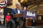 Gov. Abbott announces he's running for governor in San Antonio on July 14, 2017.