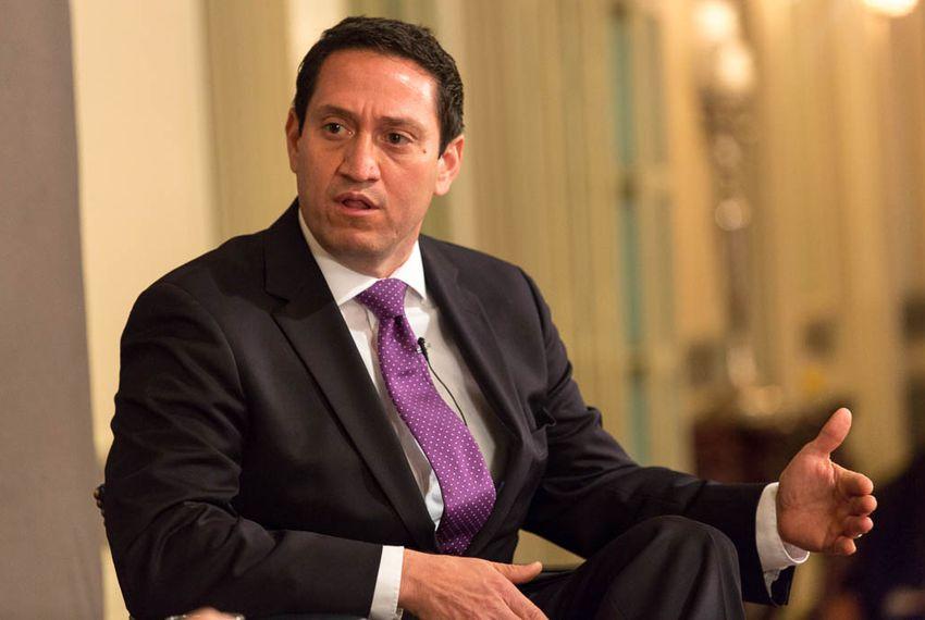 Trey Martinez Fischer, D-San Antonio, is interviewed by Texas Tribune CEO and Editor-in-Chief Evan Smith on Feb. 4, 2016.