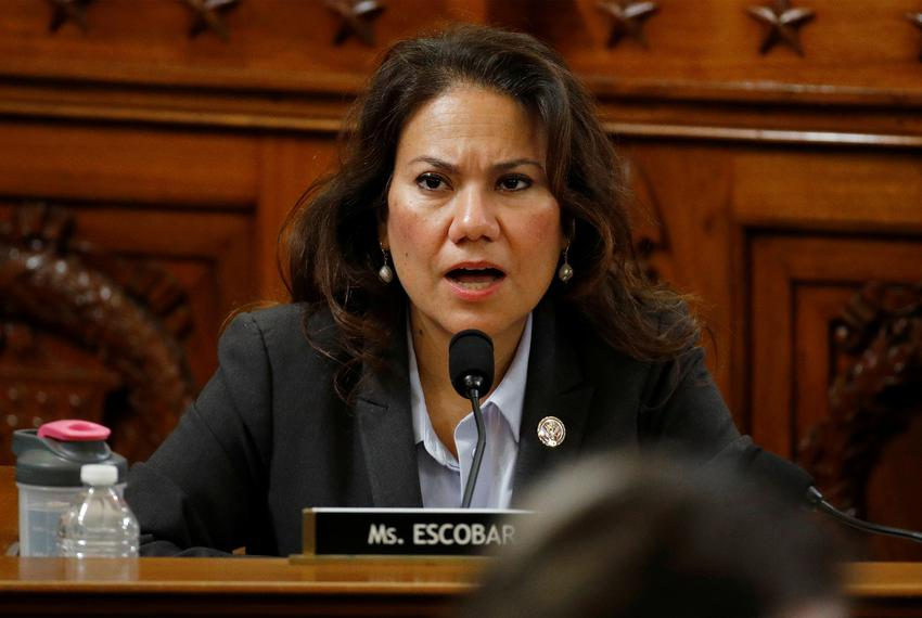 Rep. Veronica Escobar, D-Texas, votes no on the first article of impeachment against President Donald Trump on Capitol Hil...