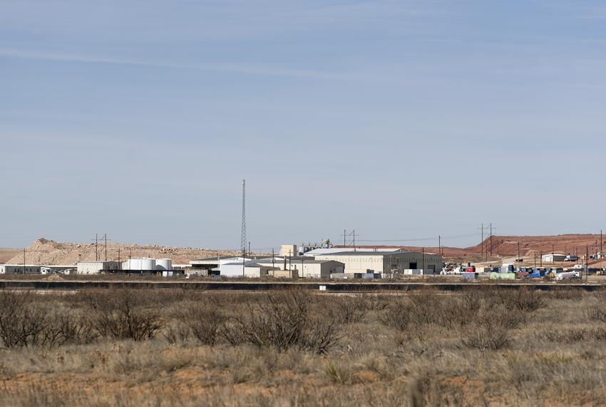 The Waste Control Specialists radioactive and hazardous waste storage site in Andrews, Texas, on Jan. 17, 2021.