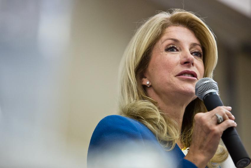 Senator Wendy Davis addresses the Texas Democratic Women's Convention in Austin, TX.