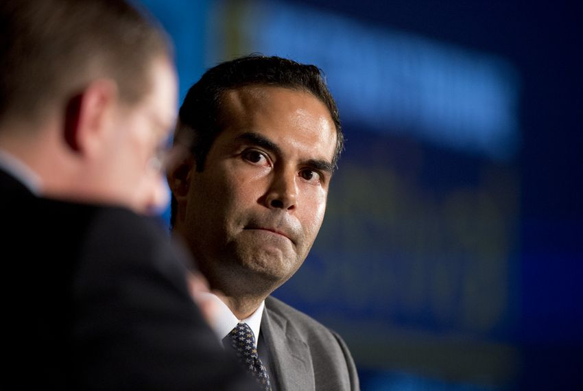 Land Commissioner candidate George P. Bush listens to an Evan Smith question at TribFest on Sept. 19, 2014