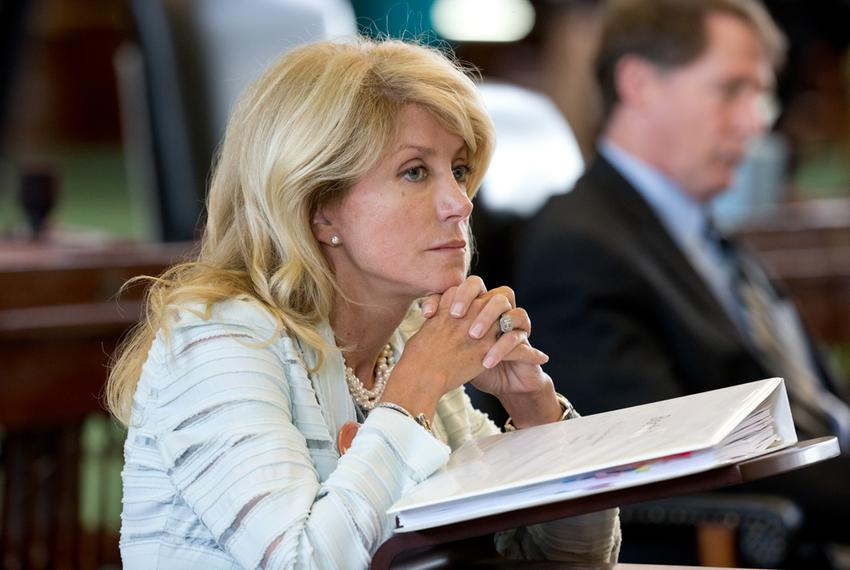 State Sen. Wendy Davis, D-Fort Worth, preparing to filibuster Senate Bill 5, which would tighten regulations on abortion pro…