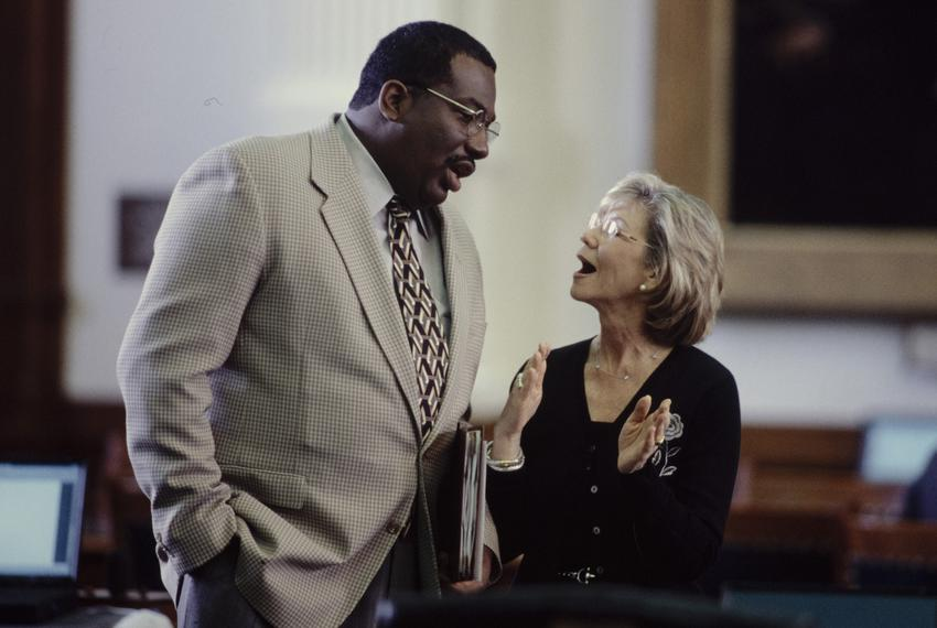Photos COPYRIGHT Bob Daemmrich 1997, 1999, 2001.  All rights reserved. Sen. Royce West in action at the Texas Senate. Year…