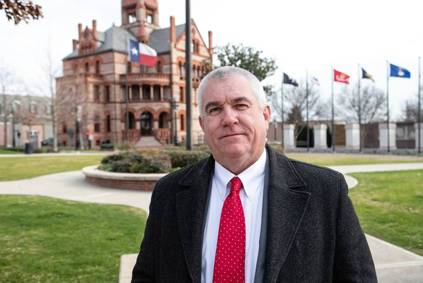 Marc Maxwell, Sulphur Springs city manager, in front of the court house in the town square Jan. 23, 2019.