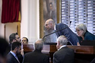Dennis Bonnen presided over his first votes as speaker of the Texas House on Jan. 9.