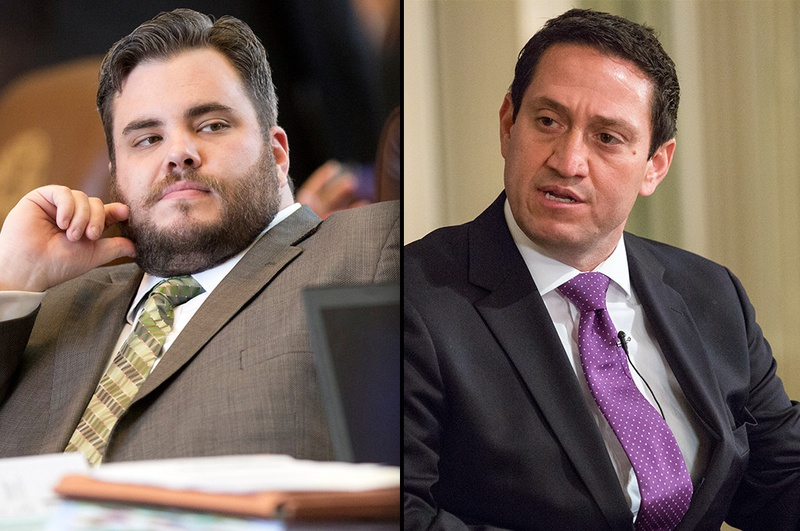 State Reps. Jonathan Stickland (left), R-Bedford, and Trey Martinez Fischer, D-San Antonio, are seen as gadflies by many of their colleagues in the Texas House. Both are locked in tough 2016 primary battles.