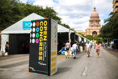 Saturday at the Tribune Festival featured Open Congress — an opportunity for the public to attend free events held in multiple tents on Congress Avenue, where traffic was closed down for the day.