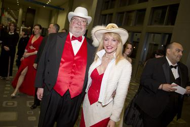 Guests arrive at ball at the Austin Convention Center.
