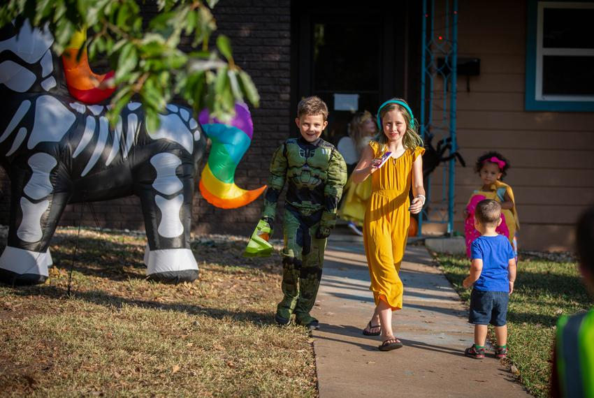 Families across Texas are preparing for Halloween festivities during the COVID-19 pandemic. Jenn Deering Davis's family and …