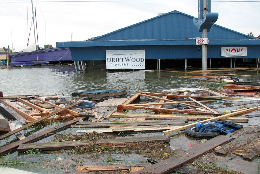 Hurricane Ike damage El Lago, 2008.