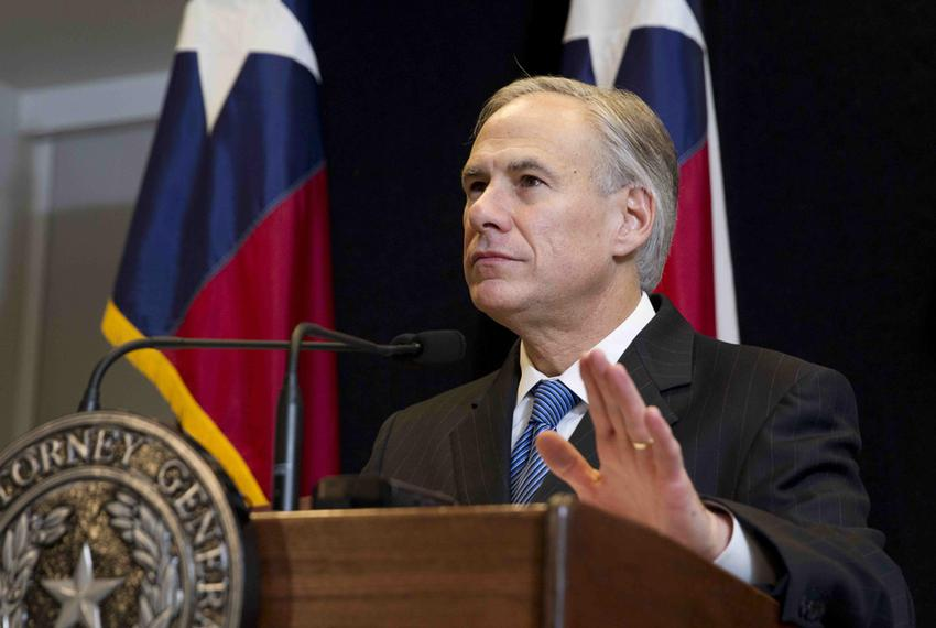Attorney General Greg Abbott speaking on Dec. 3, 2014, about the lawsuit filed by Texas and other states against the Obama...