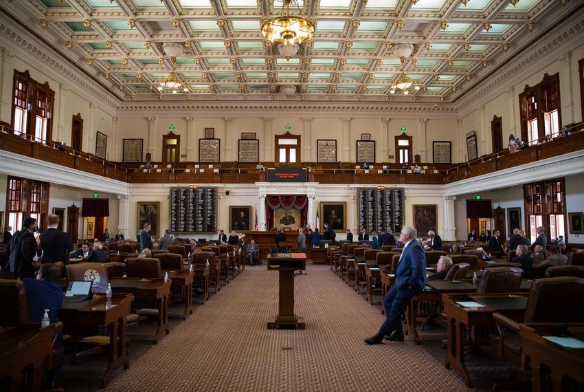 The House floor on Aug. 23, 2021.