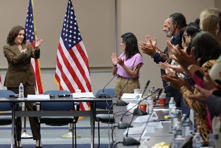 Vice President Kamala Harris met in Washington D.C. with Democratic members of the Texas state legislature who left the stat…
