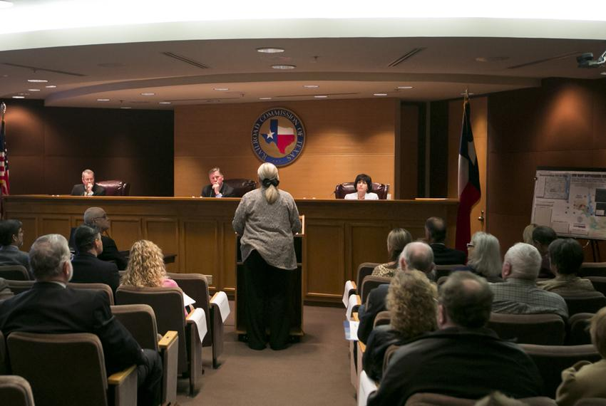 Lynda Stokes, the mayor of Reno, Texas, testified before the Railroad Commission of Texas on Jan. 21, 2014. She voiced her...