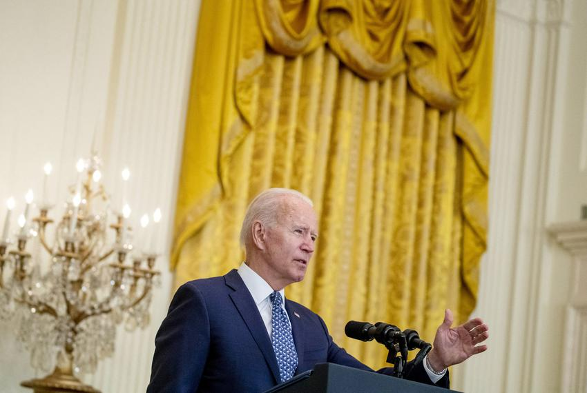 President Joe Biden delivered remarks in honor of labor unions during an event in the East Room of the White House in Washin…