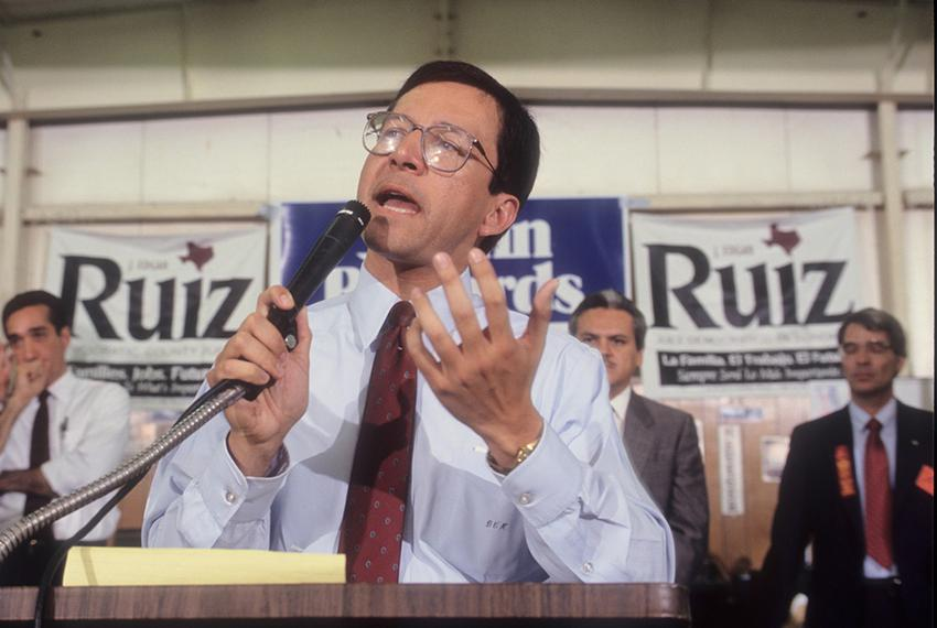 Former Texas State Representative and Texas Attorney General Dan Morales in his office and at the Texas Capitol, circa 1994-…