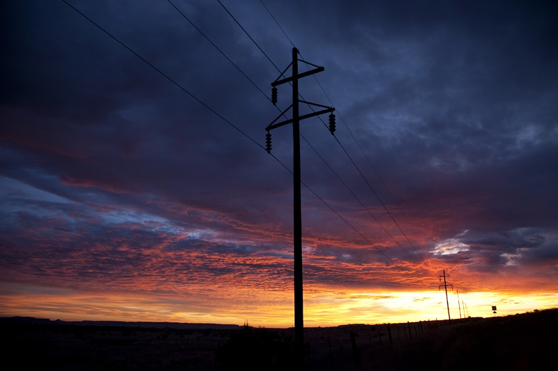 Sunrise after a night of thunderstorms on June 19, 2010, in Alpine, Texas.