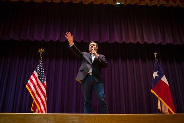 U.S. Sen. Ted Cruz campaigns in San Antonio a day ahead of Super Tuesday.