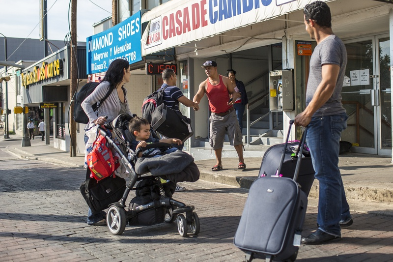A civil war of sorts has spilled into Laredo as rival groups of Cubans hang out in the border city's downtown awaiting new arrivals from the island nation.