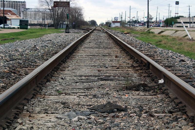 A high-speed Texas train is planned to run near railroad tracks along Hempstead Road in northwest Houston.