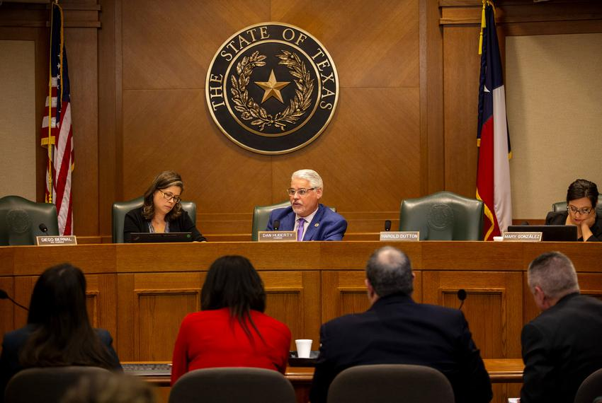 State Rep. Dan Huberty, R-Houston, listens to testimonies on the Texas Education Agency's uses of House Bill 3 and House B...