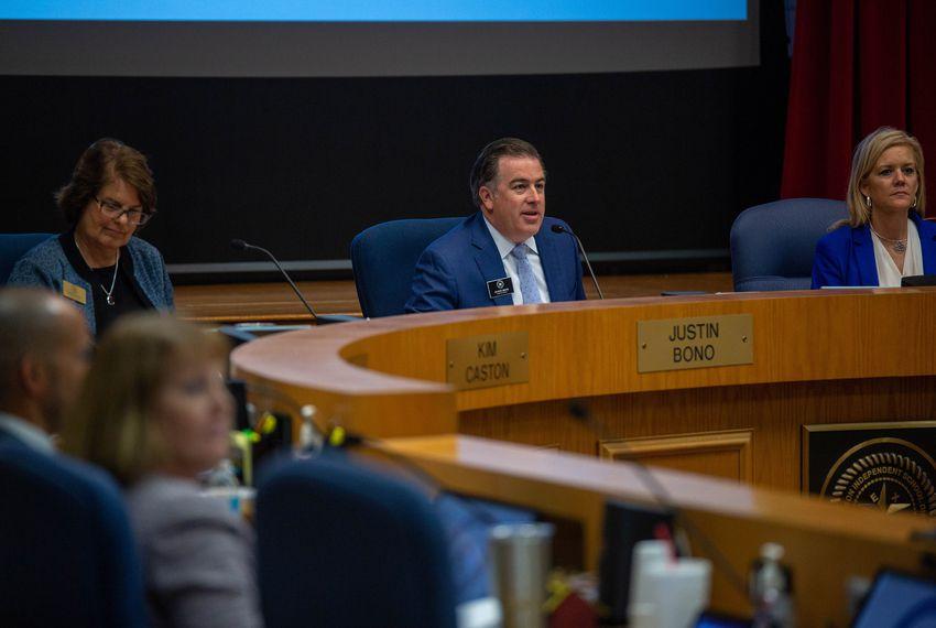 Richardson ISD Board meeting, President Justin Bono, Sept 10, 2018.