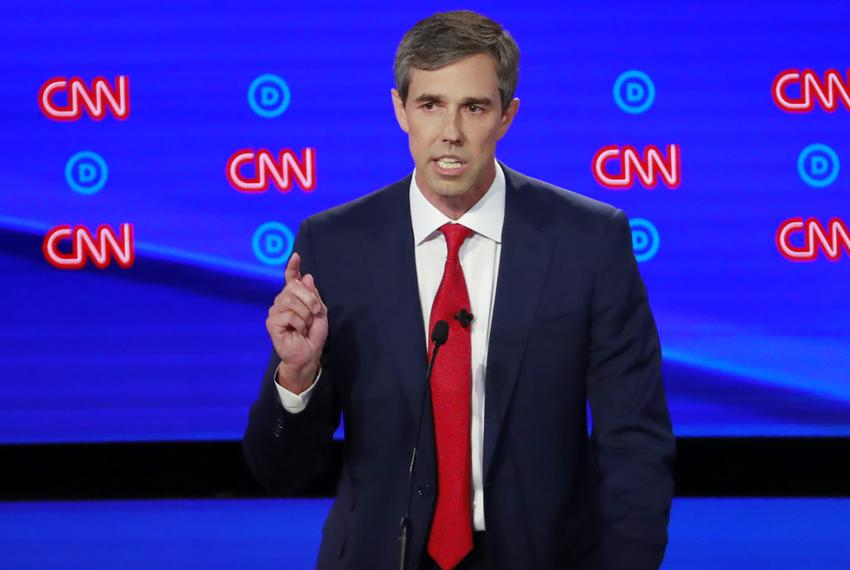 Former U.S. Rep. Beto O'Rourke speaks during the first night of the second 2020 Democratic U.S. presidential debate in Detro…