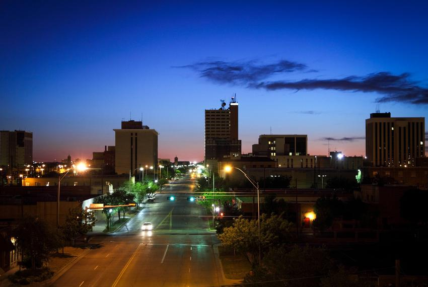 Downtown Lubbock.