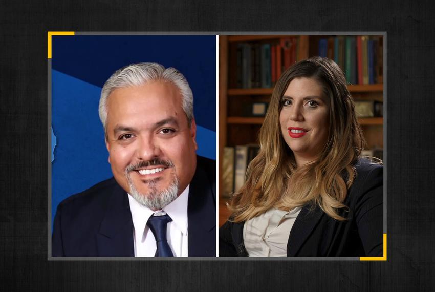 Ruben Cortez Jr. and Sara Stapleton Barrera are both Democratic candidates for seats in Texas Senate District 27.