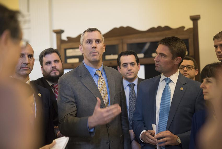 The Texas Freedom Caucus in a hastily called press conference telling the press their intent to kill bills on the Local an...