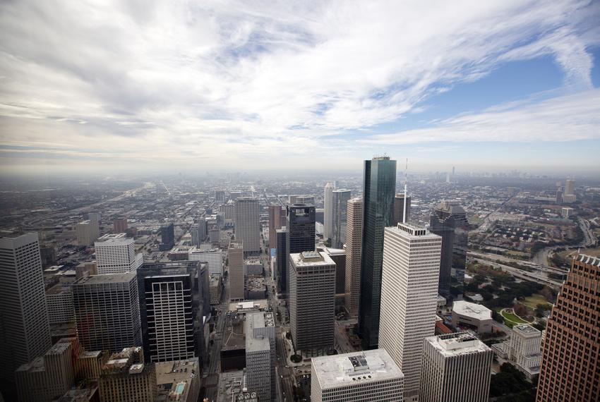 The Houston skyline on Dec. 17, 2018.